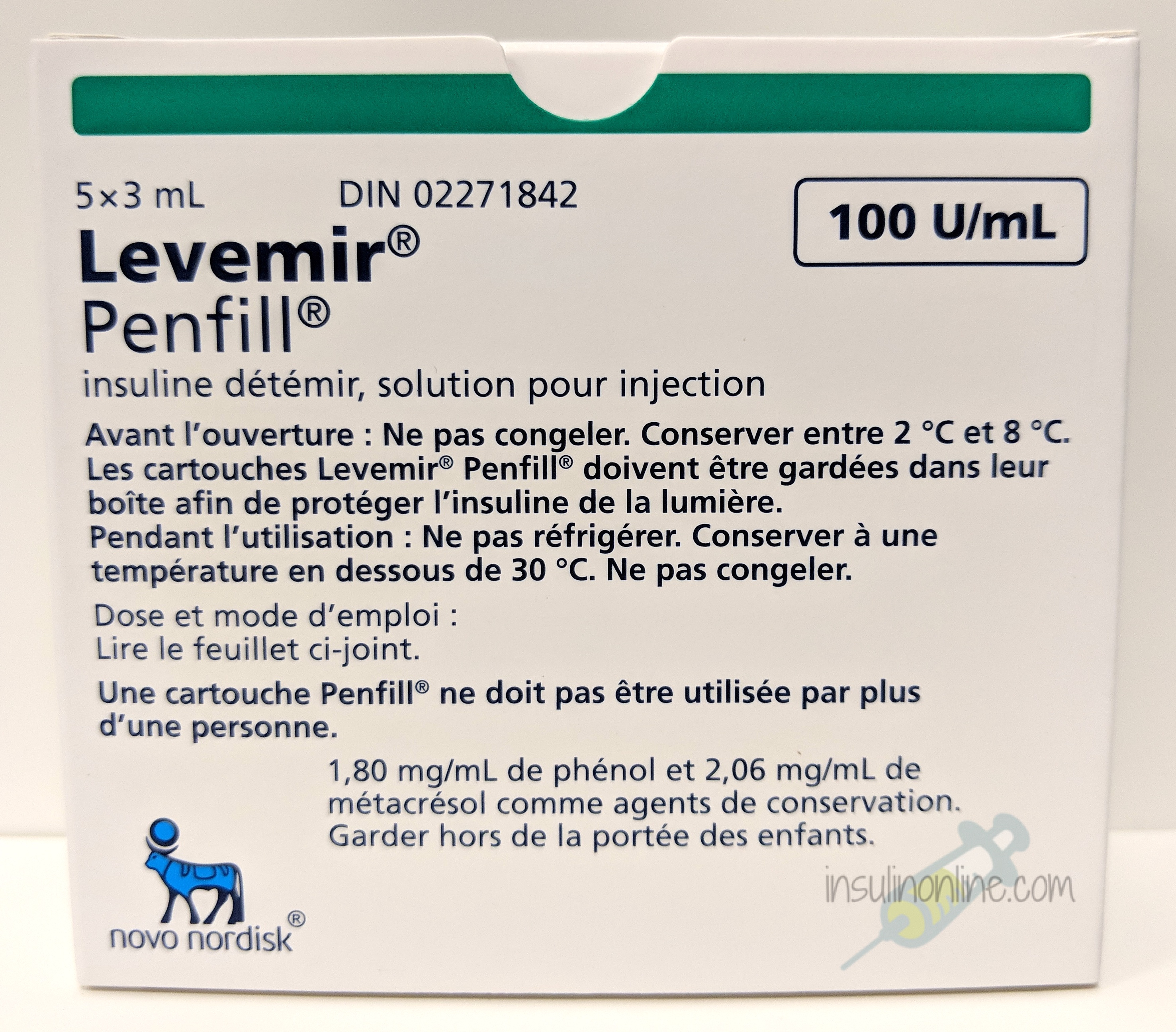 Levemir Penfills 5x3ml