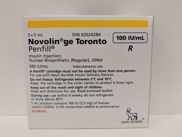 Novolin ge Toronto Penfill 5x3ml