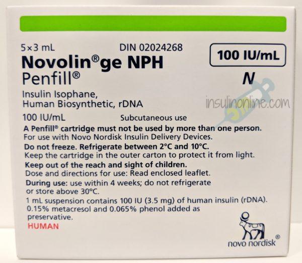 Novolin ge NPH Penfill 5x3ml